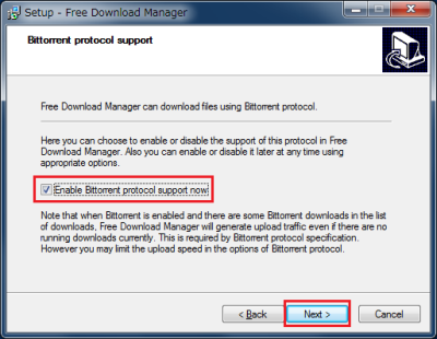 5 FDMBittorrentEnable Bittorrent protocol support now